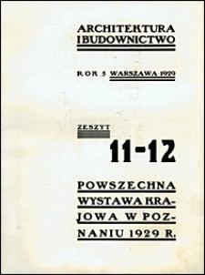 Architektura i Budownictwo 1929 nr 11-12