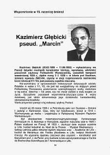 """Kazimierz Głębicki pseud. """"Marcin"""". Wspomnienie w 15. rocznicę śmierci"""