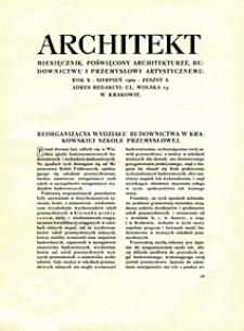 Architekt 1909 nr 8