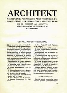 Architekt 1908 z. 8