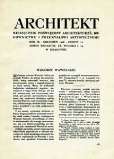 Architekt 1908 z. 12