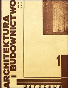Architektura i Budownictwo 1933 nr 1