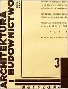 Architektura i Budownictwo 1933 nr 3