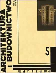 Architektura i Budownictwo 1933 nr 5