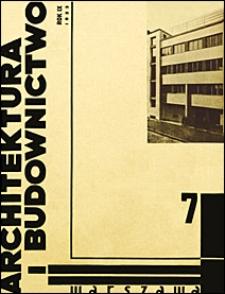 Architektura i Budownictwo 1933 nr 7