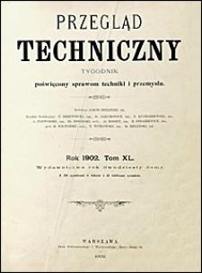 Przegląd Techniczny 1902 spis treści