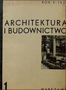 Architektura i Budownictwo 1934 nr 1