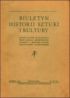 Biuletyn Historji Sztuki i Kultury 1938 nr 1