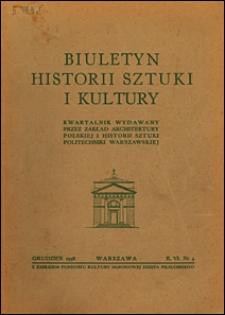 Biuletyn Historji Sztuki i Kultury 1938 nr 4