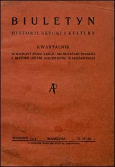 Biuletyn Historji Sztuki i Kultury 1935 nr 1