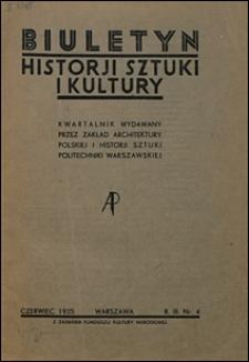 Biuletyn Historji Sztuki i Kultury 1935 nr 4