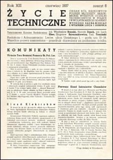 Życie Techniczne 1937 nr 6