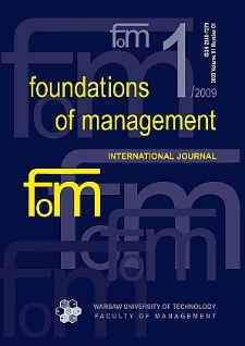 Foundations of Management 2009 nr 1