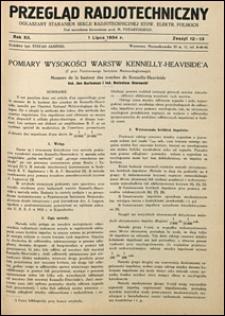 Przegląd Radjotechniczny 1934 nr 13-14