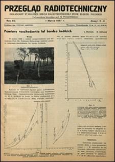 Przegląd Radjotechniczny 1937 nr 5-6