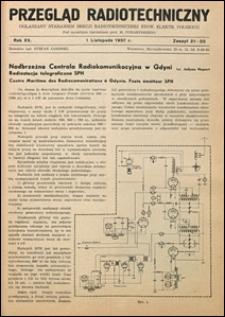 Przegląd Radjotechniczny 1937 nr 21-22