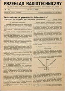 Przegląd Radjotechniczny 1938 nr 7-8