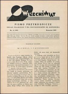 Wszechświat. Pismo przyrodnicze 1931 nr 4