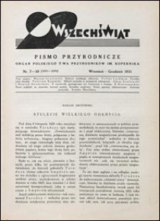 Wszechświat. Pismo przyrodnicze 1931 nr 7-10