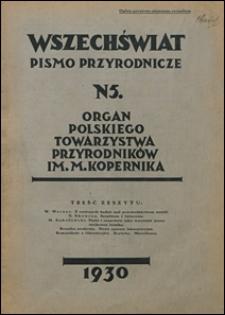 Wszechświat. Pismo przyrodnicze 1930 nr 5
