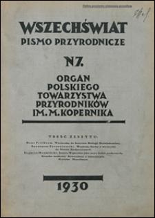 Wszechświat. Pismo przyrodnicze 1930 nr 7