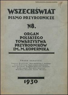 Wszechświat. Pismo przyrodnicze 1930 nr 8