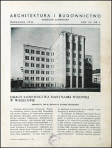 Architektura i Budownictwo 1936 nr 1