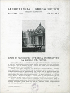 Architektura i Budownictwo 1936 nr 6