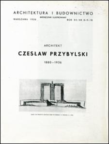 Architektura i Budownictwo 1936 nr 8-10