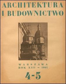 Architektura i Budownictwo 1937 nr 4-5