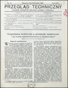 Przegląd Techniczny 1926 nr 17