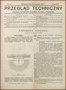 Przegląd Techniczny 1926 nr 47