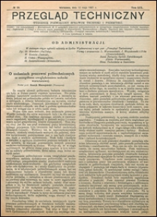 Przegląd Techniczny 1921 nr 19