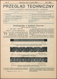 Przegląd Techniczny 1925 nr 5