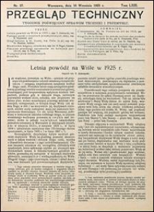 Przegląd Techniczny 1925 nr 37