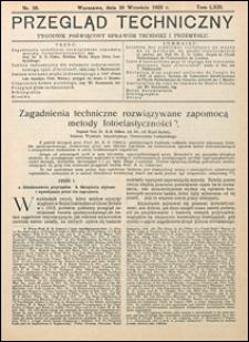 Przegląd Techniczny 1925 nr 39