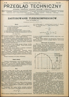 Przegląd Techniczny 1922 nr 38