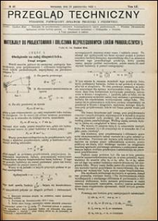 Przegląd Techniczny 1922 nr 43