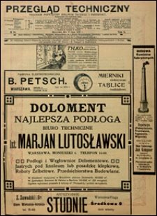 Przegląd Techniczny 1912 nr 28