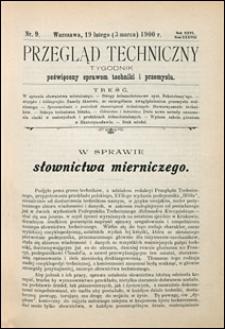 Przegląd Techniczny 1900 nr 9