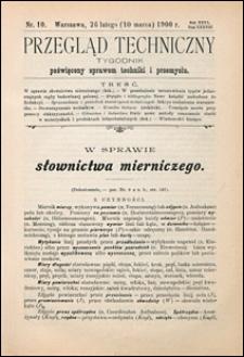 Przegląd Techniczny 1900 nr 10