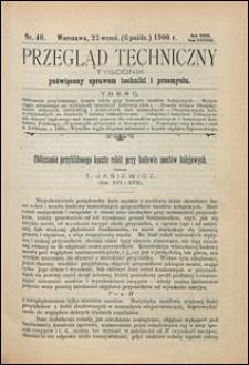Przegląd Techniczny 1900 nr 40