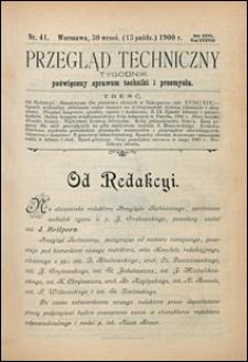 Przegląd Techniczny 1900 nr 41