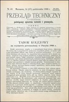 Przegląd Techniczny 1900 nr 43