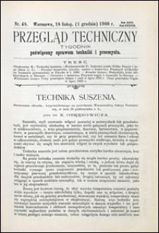 Przegląd Techniczny 1900 nr 48
