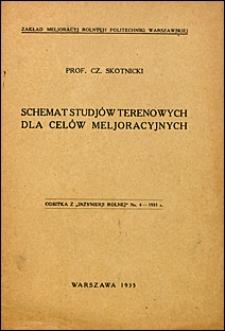 Schemat studjów terenowych dla celów meljoracyjnych
