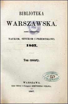 Biblioteka Warszawska 1867 t. 4