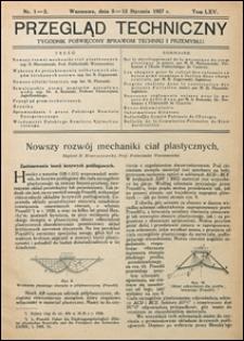 Przegląd Techniczny 1927 nr 1-2