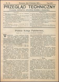 Przegląd Techniczny 1927 nr 14
