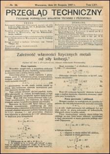 Przegląd Techniczny 1927 nr 34